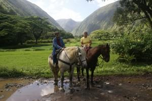 Waipio Valley, Hawai'i Hawaii.  (Photo by our horse wrangler.)