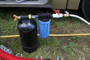 Our new water softener with pre-filter