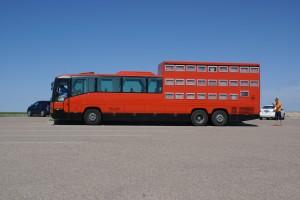 A sleeper coach! at Badlands N.P.