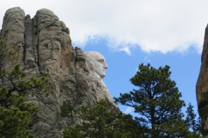 1st glimpse of Mt. Rushmore