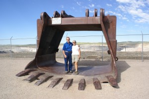 Us standing in a an overburden shovel bucket.