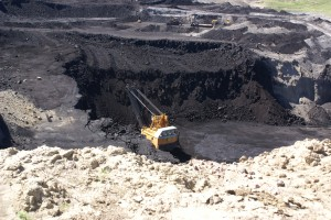 Coal shovel, Eagle Butte Coal Mine