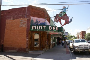"The Mint Bar.  ""Meet me at the Mint"" is what the locals say.  Lots of bars in town, not too many wine stores/"