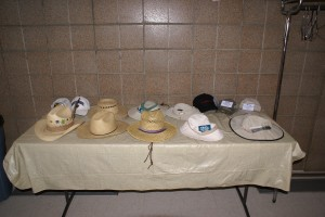 This is where the hats go during lunch.