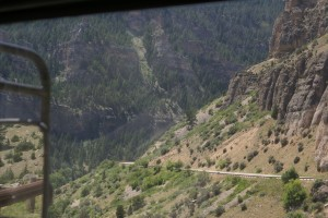 Going down the western side of the Bighorn Mountains on US-16, real slow