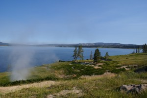 Yellowstone Lake looking NW towards Fishing Bridge.  ~7700' ASL.