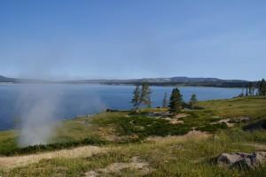 Yellowstone Lake looking NW towards Fishing Bridge.  ~7700' ASL.