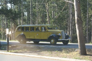 A vintage White Motors Yellowstone bus!