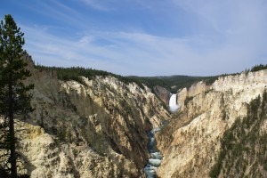 Yellowstone Falls and Canyon from Artist Point.