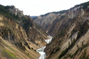 Yellowstone Canyon below the Lower Falls.