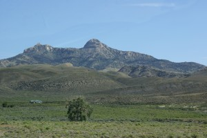 This mountain NW of Cody is visible from many directions.
