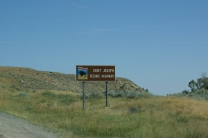 The start of the Chief Joseph Scenic Byway.