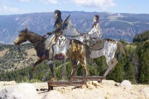 Artwork honoring the Nez Perce.