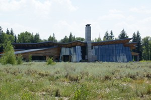 The Craig Thomas Discovery and Visitor Center near Moose Junction.