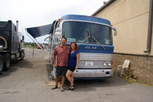 "Chris and Cherie of Technomadia, ""camped"" at Interstate PowerSystems."