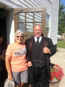 "Linda with ""Teddy Roosevelt"" Joe Wiegand."
