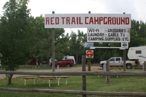 Entrance to Red Trail Campground.