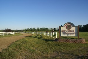 The entrance to Red Trail Vineyard, Buffalo, ND - a Harvest Hosts location.