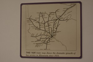 An early route map.  It didn't take long for the business to expand beyond Hibbing.