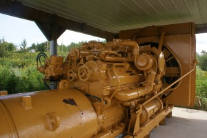 The 2,200 HP 16 cylinder Cat engine that moves the mine hauler.