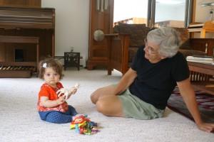 Madeline with her grandma Linda.