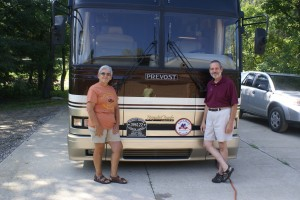 Us in front of our bus.