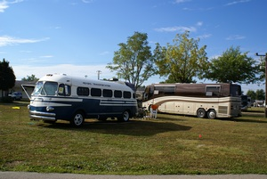 A 1948 Spartan and aour1990 Prevost.