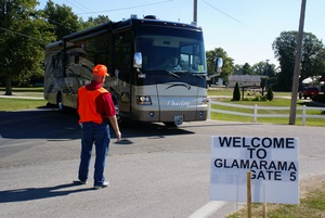 Welcome to GLAMARAMA at the Gate 5 entrance.