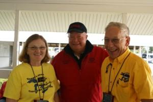 L-2-R: Vicky Lintner, Jon Walker (FMCA Senior National Vice-President), Larry Baker (GLCC President).