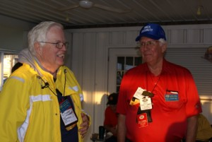 Pat Lintner (L, GLCC Secretary and National Director, and GLAMA Indiana VP) and Don Crawford (GLCC Founder/first president, and former GLAMA President and national area VP.