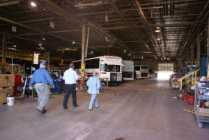 More buses being worked on.