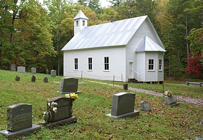 One of the two Baptist Churches we passed in Cades Cove, ca. 1839, GSMNP.
