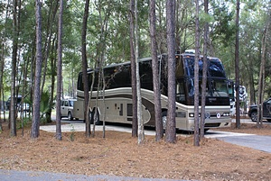 Our short-term site at Williston Crossings RV Resort.