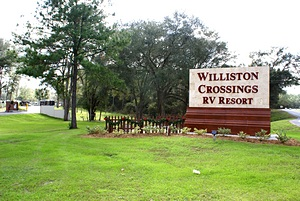 The FL-121 entrance sign.
