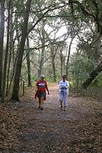 Linda and Karen on the Swamp Tail, SSSP (FL).