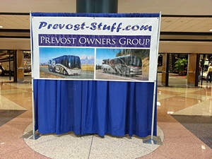 TCC West Hall entrance, Prevost-Stuff Show