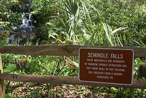 Seminole Falls info.