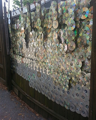 Ever wondered what to do with old CDs?  Now you know.