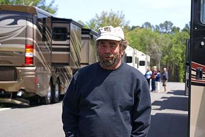 Kevin (one of the lead volunteers at the resort) at the Lazydays RV display.