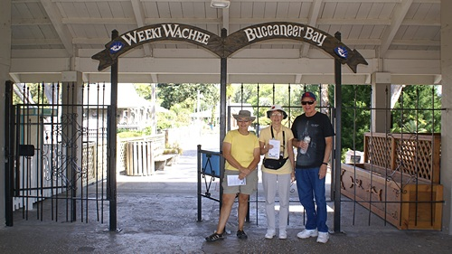 Linda, Marian, & John at the entrance to WWSSP.