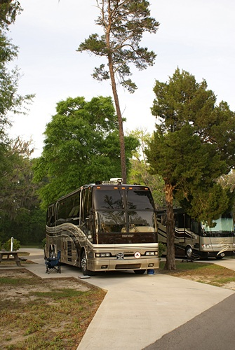 Our site at Live Oak Landing near Freeport, FL; an RVC Outdoor Destination.
