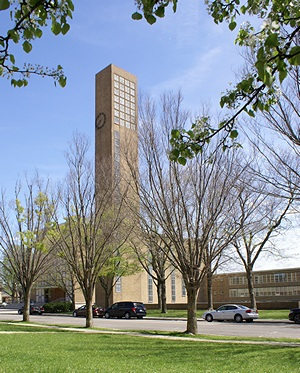 First Christian Church, Columbus,IN.  Eliel Saarinen (1942).