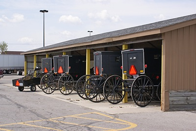 """The Walmart """"stables"""" on  US-33 southeast of Goshen, IN."""