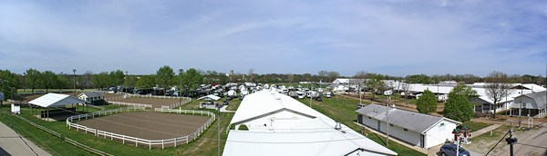 Panorama of the Elkhart County 4-H Fairgrounds.