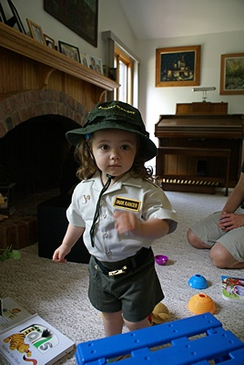 Madeline in her Junior Park Ranger outfit.