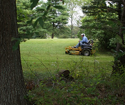 This is how Keith cuts over 4 acres of grass in a few hours.