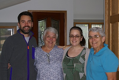 """The """"buddies"""" (L-2-R): Brendan, Marilyn, Meghan, and Linda.  (Not shown: Bruce, taking the photo.)"""