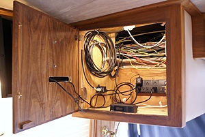"Front TV cabinet; making use of the space where the 10"" CRT was mounted."