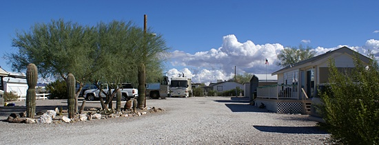Pulling in to 715 Lollipop Ln in Quartzsite, Arizona.