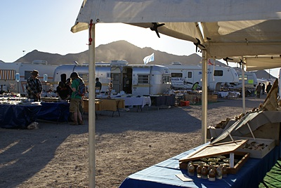 A few of the vendors at Desert Gardens, Quartzsite, AZ.